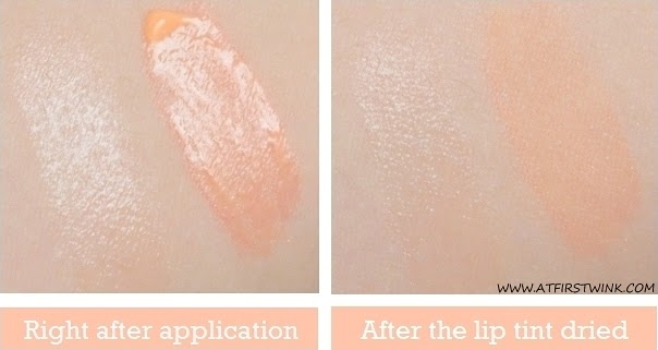 eSpoir Tint and Lip Balm Duo - Girlish Peach swatched on arm