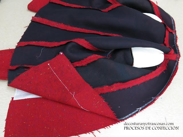 tutorial para forrar una chaqueta sin solapa