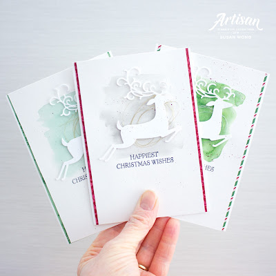 Dashing Deer by Stampin' Up! - Easy Christmas Cards by Susan Wong