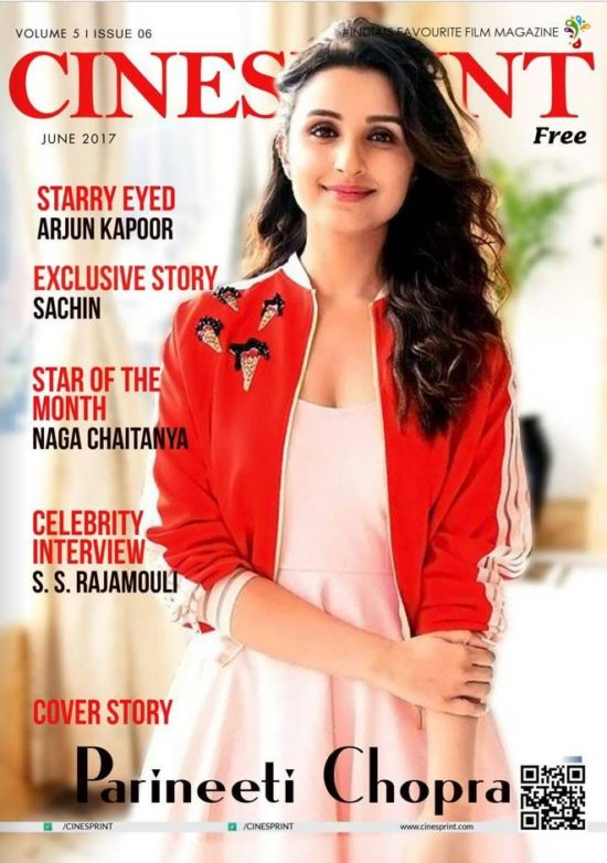 Parineeti Chopra On The Cover of Cinesprint Magazine India June 2017