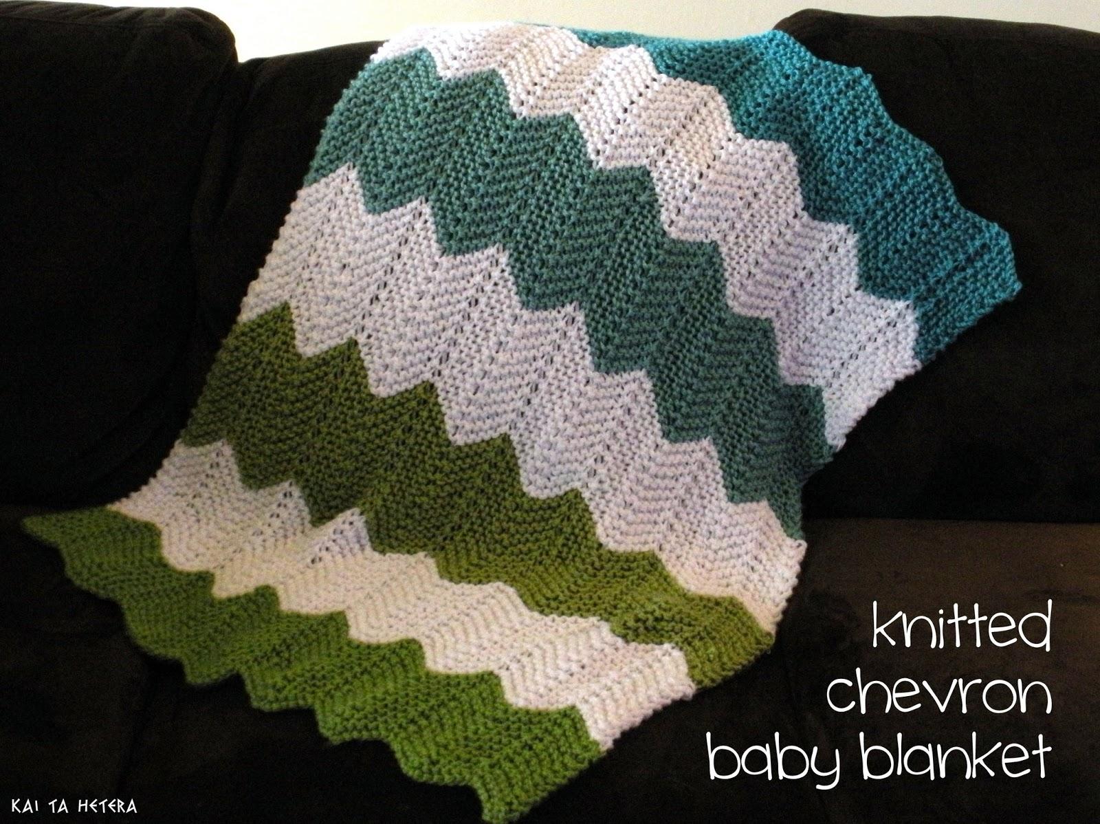 kai ta hetera: knitted chevron baby blanket