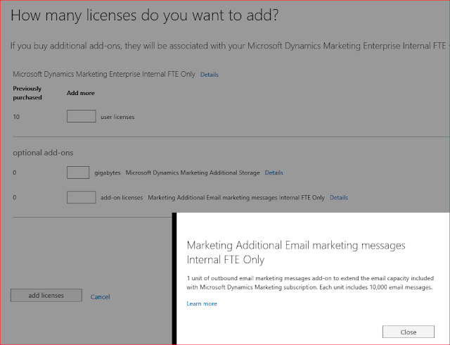 Microsoft Dynamics Marketing Additional Quota