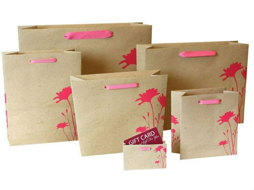 In túi giấy giá rẻ tại Hà Nội, túi giấy kraft cao cấp mẫu mã đẹp Flower