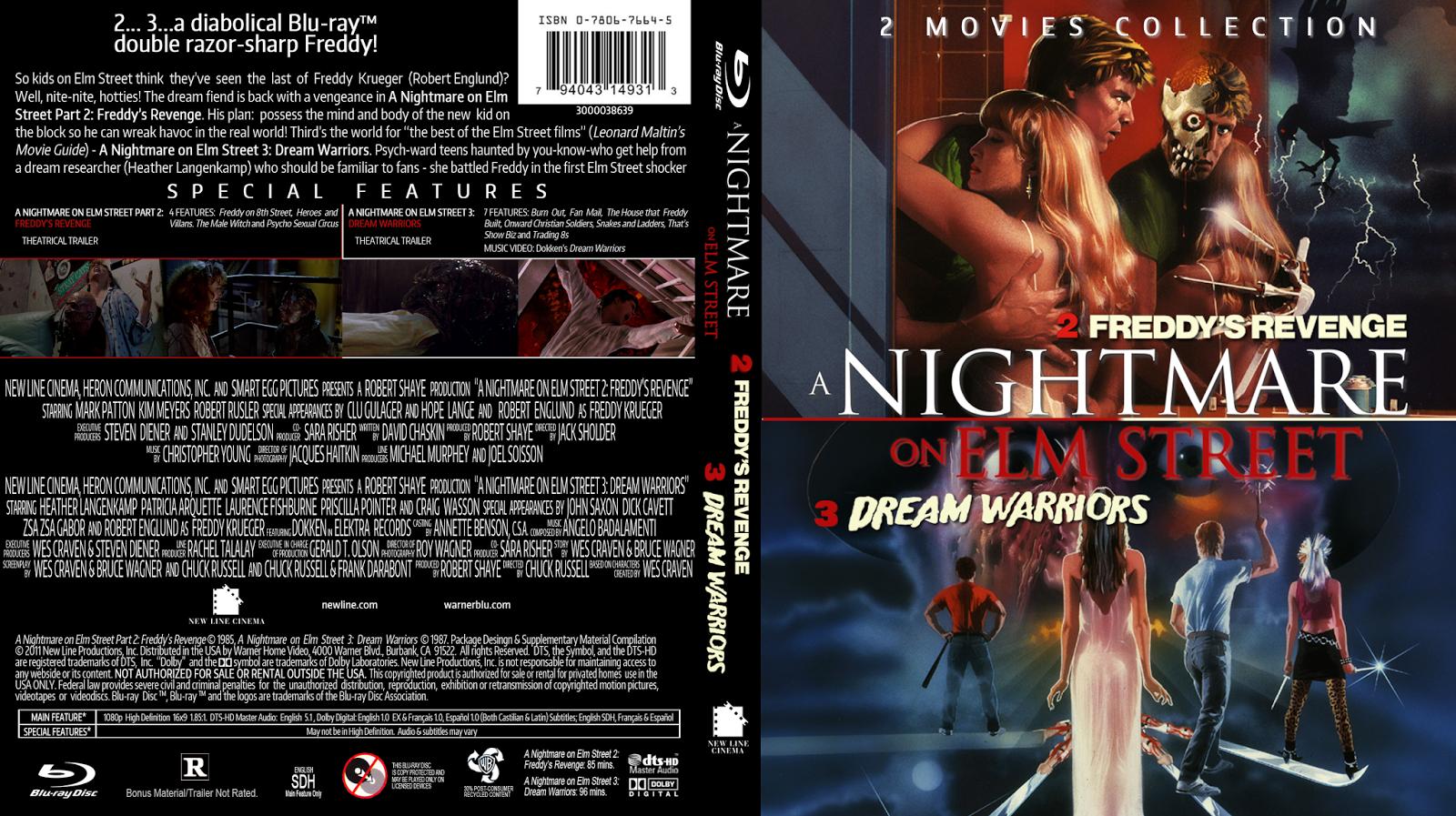 a nightmare on elm street blu ray cover