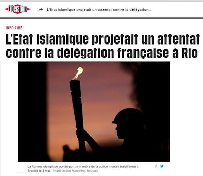 Jornal francês 'Libération' alerta para atentado do Estado Islâmico no Brasil