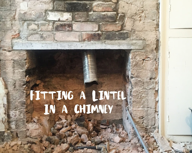 How to fit a lintel in a chimney