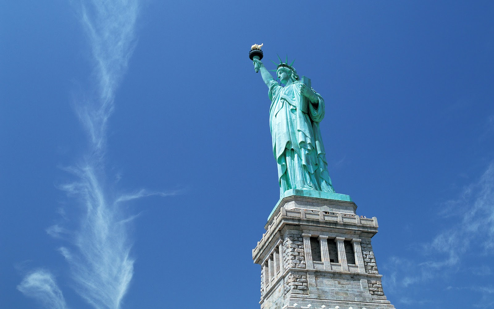 Freewall New Yorks Statue Of Liberty Wallpapers