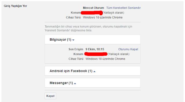 Facebook Hesap Güvenliği ve Ayarları