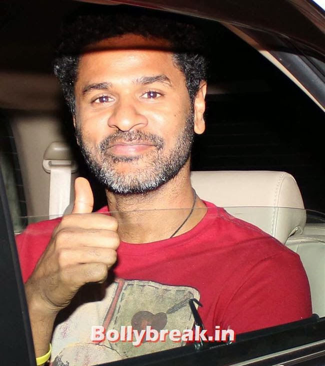 Prabhu Deva at, Deepika, Ranverr, Jackie, Malaika & Other Celebs at Gunday Special Screening