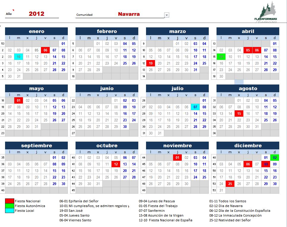 Calendario 2011 Espana.Tenso O Largo Cuerda El Calendario Laboral De 2012 Ya Estan