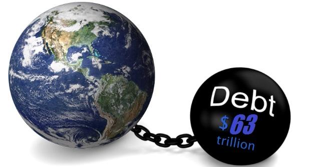 Στα 63 τρισ. δολ το παγκόσμιο χρέος, με το 31,8% στις ΗΠΑ ...και η ειδική περίπτωση τ