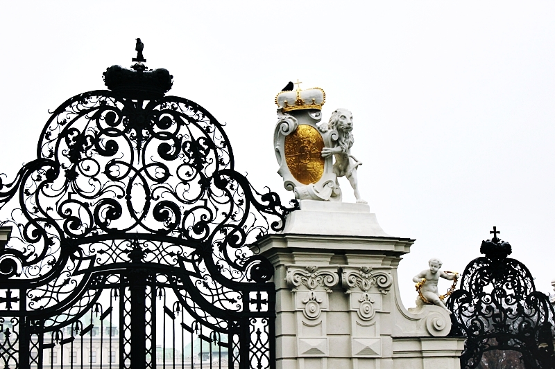 ornate Gates of Belvedere Palace in Vienna