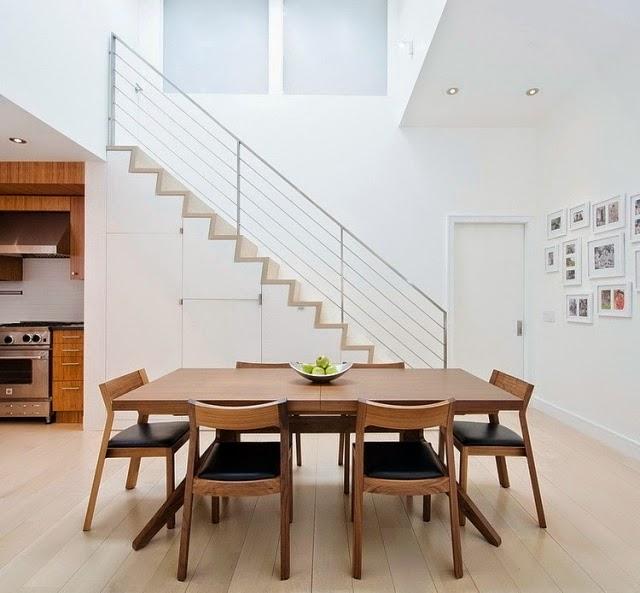 Comedores modernos de madera colores en casa for Mueble comedor minimalista