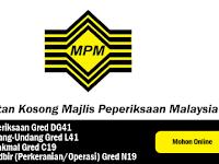 Jawatan Kosong di Majlis Peperiksaan Malaysia (MPM)
