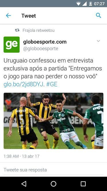 Uruguaio comenta a partida do Palmeiras