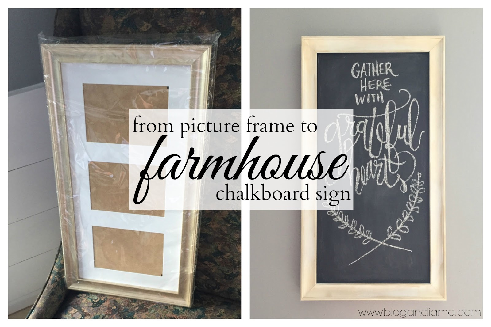 from picture frame to farmhouse chalkboard sign
