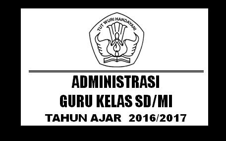 Download Perangkat Administrasi Guru Kelas 1 SD Kurikulum 2013 Tahun Ajaran 2016/2017