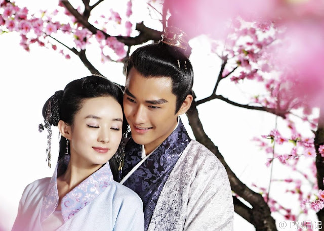 Zhu Zi Xiao and Zhao Li Ying in 2016 Chinese drama Lucky Tianbao