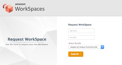 Automate Amazon Workspaces With A Self Service Portal Aws Central