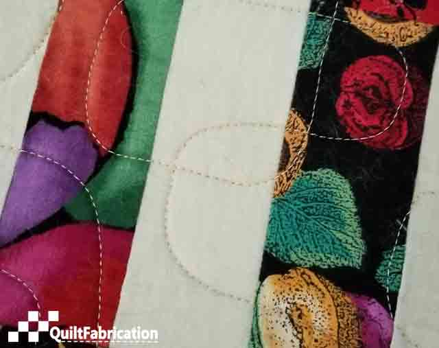 quilting on rail fence block part of new quilt