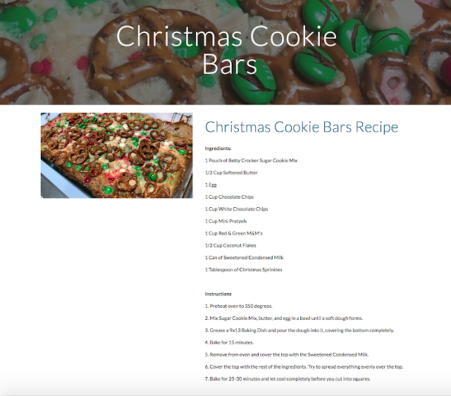 Christmas Cookie Bars Recipe