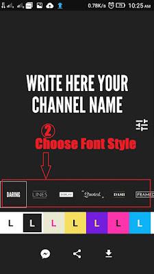 choose font style