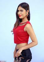 Nishi Gandha in Beautiful Red Crop Top ~  Exclusive 018.jpg