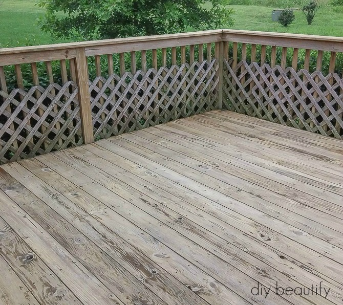 dirty deck before paint