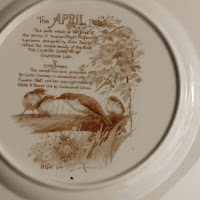 Caverswall China April month plate back