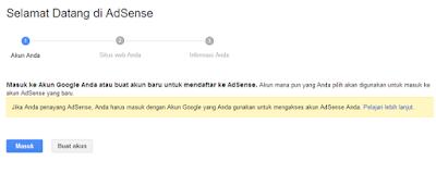 Cara Terbaru Daftar Google Adsense di Blogspot