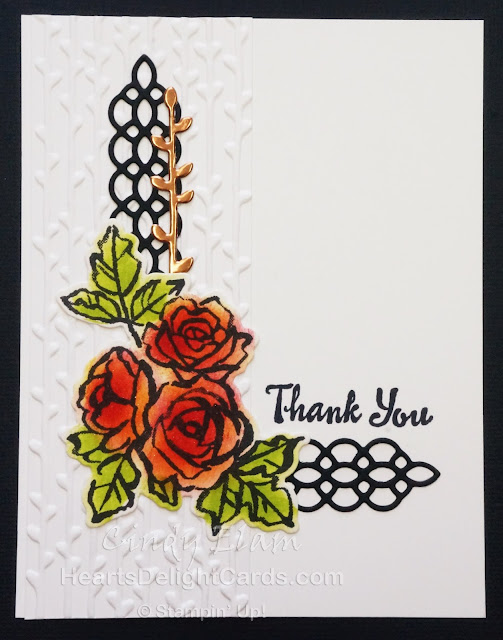 Heart's Delight Cards, Petal Palette, Thank You, Stampin' Up!