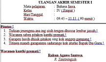 Orang Jawa yang setiap harinya menggunakan Bahasa Jawa  Soal UAS Semester 1 Bahasa Jawa Kelas 6 Dan Kunci Jawaban