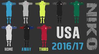 PES 2013 USA 2016-17 Kits