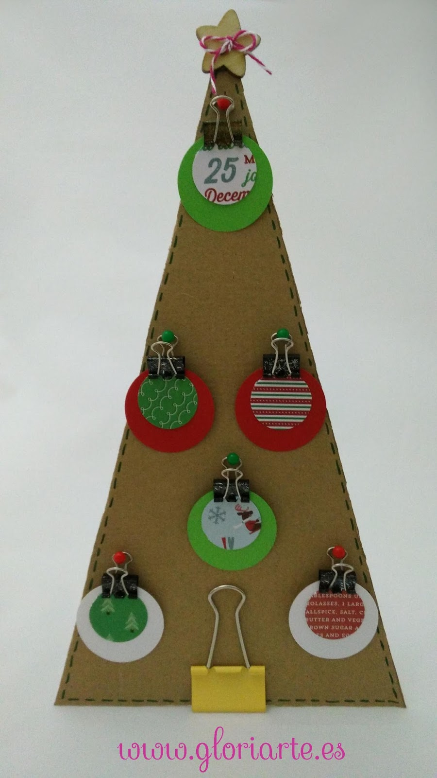 Blog gloriarte especial navidad hacemos un rbol con una for Arbol de navidad con cajas de carton