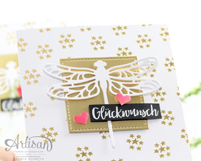 Geburtstagskarte mit Libelle von Stampin Up