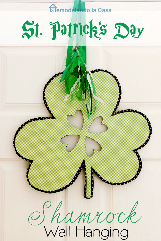 how to make a shamrock wall hanging figure on wood.