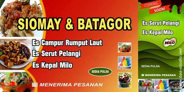 desain backdrop siomay & batagor