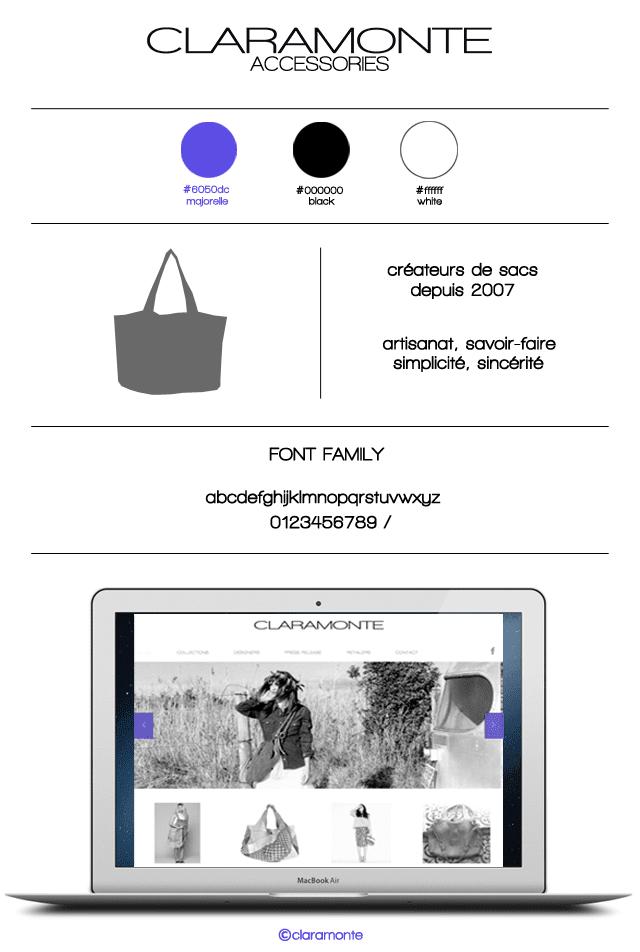 Site web sacs Claramonte