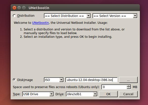 unetbootin per ubuntu