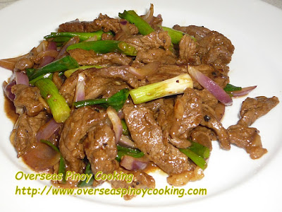 Pork with Spring Onion Stirfry Recipe