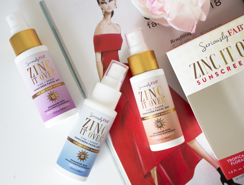 ZINC IT OVER® with Seriously FAB over the makeup sunscreen mist!