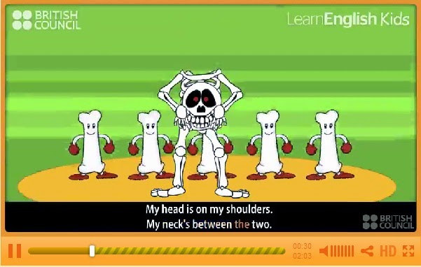 http://learnenglishkids.britishcouncil.org/es/songs/the-scary-skeleton