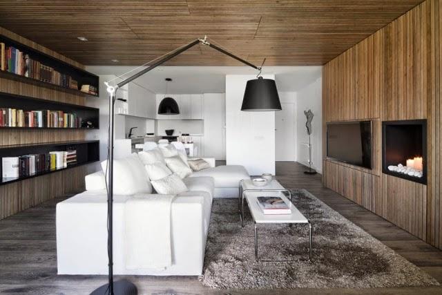 Estupendas salas modernas colores en casa for Salas de madera modernas