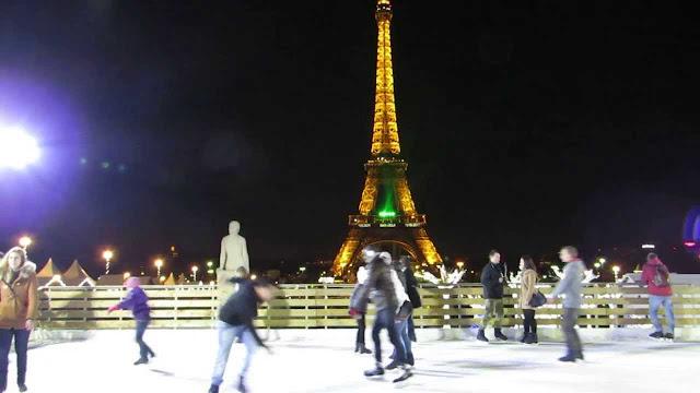 Pistas de patinação de Paris em janeiro