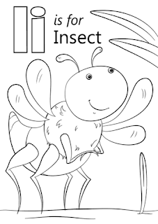 Ii For Insect Coloring Sheet Alphabets