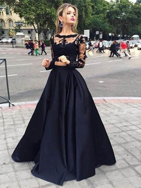 A-line Scoop Floor-length Satin Prom Dresses/Evening Dresses #SP7301