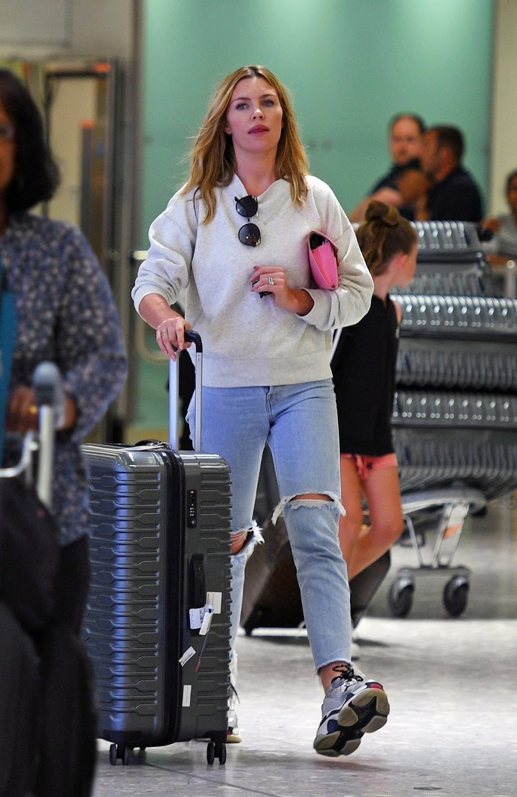Abbey Clancy returns from a weeks holiday in the Maldives - London 06/01/2018