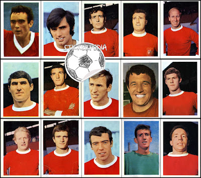 FKS stickers Manchester United 1967/68
