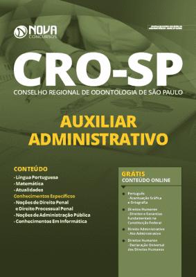 Apostila Concurso CRO SP 2020 Auxiliar Administrativo Grátis Cursos Online