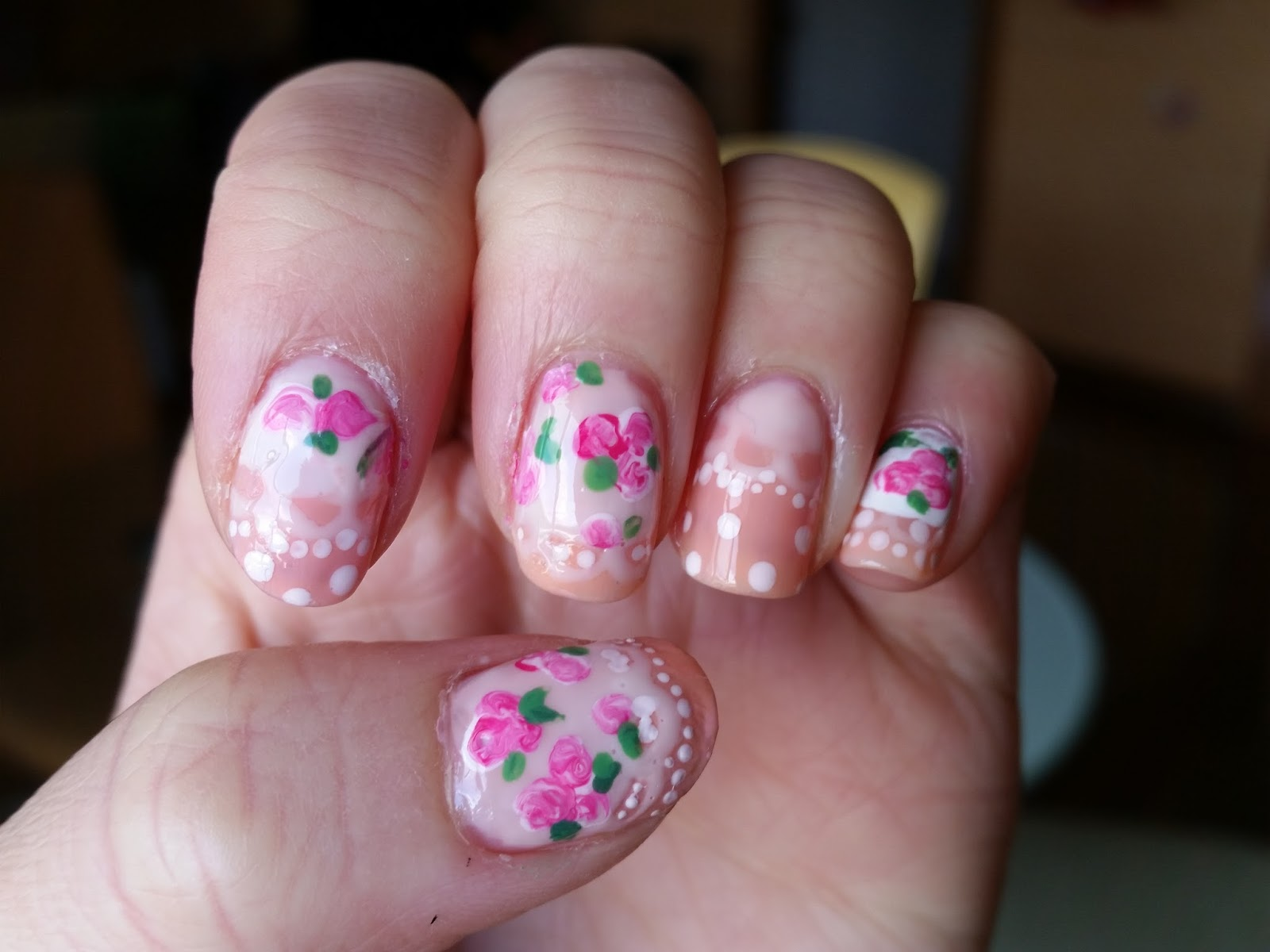 Beauty in Everyday Life: [Nail Look of the Day] Lace, florals, and ...